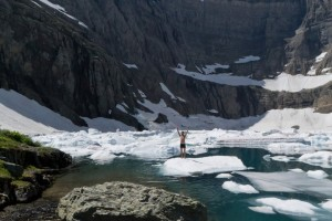 Taking in the splendor of Iceberg Lake on the north east side of Glacier National Park. This unique lake gets its name from the chunks of ice it has floating in it year round! Photo: Lauren Oscilowski, Whitefish Resident